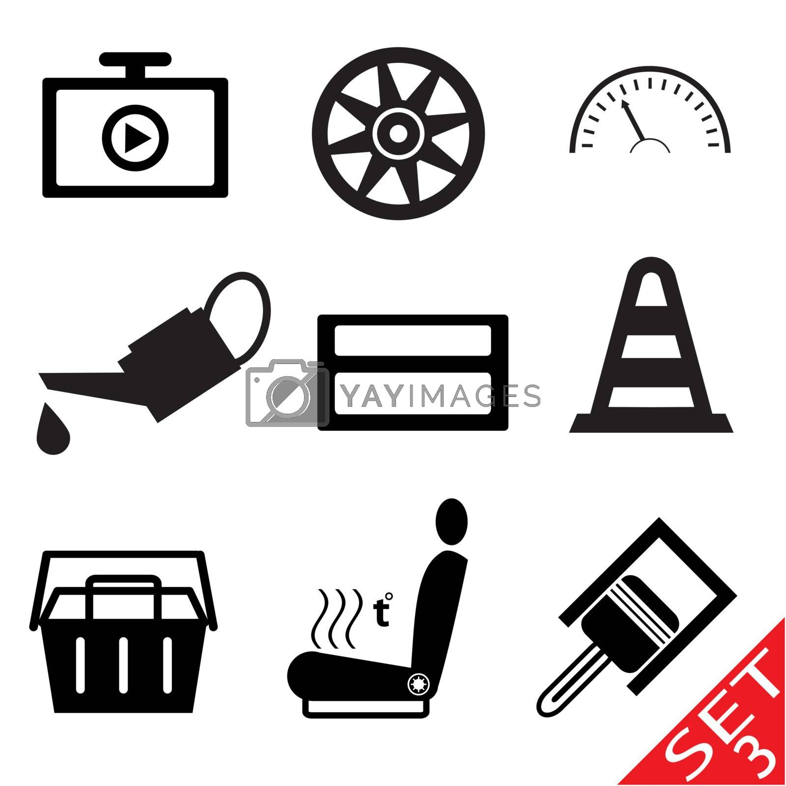 Car part icon set 3 by smoki