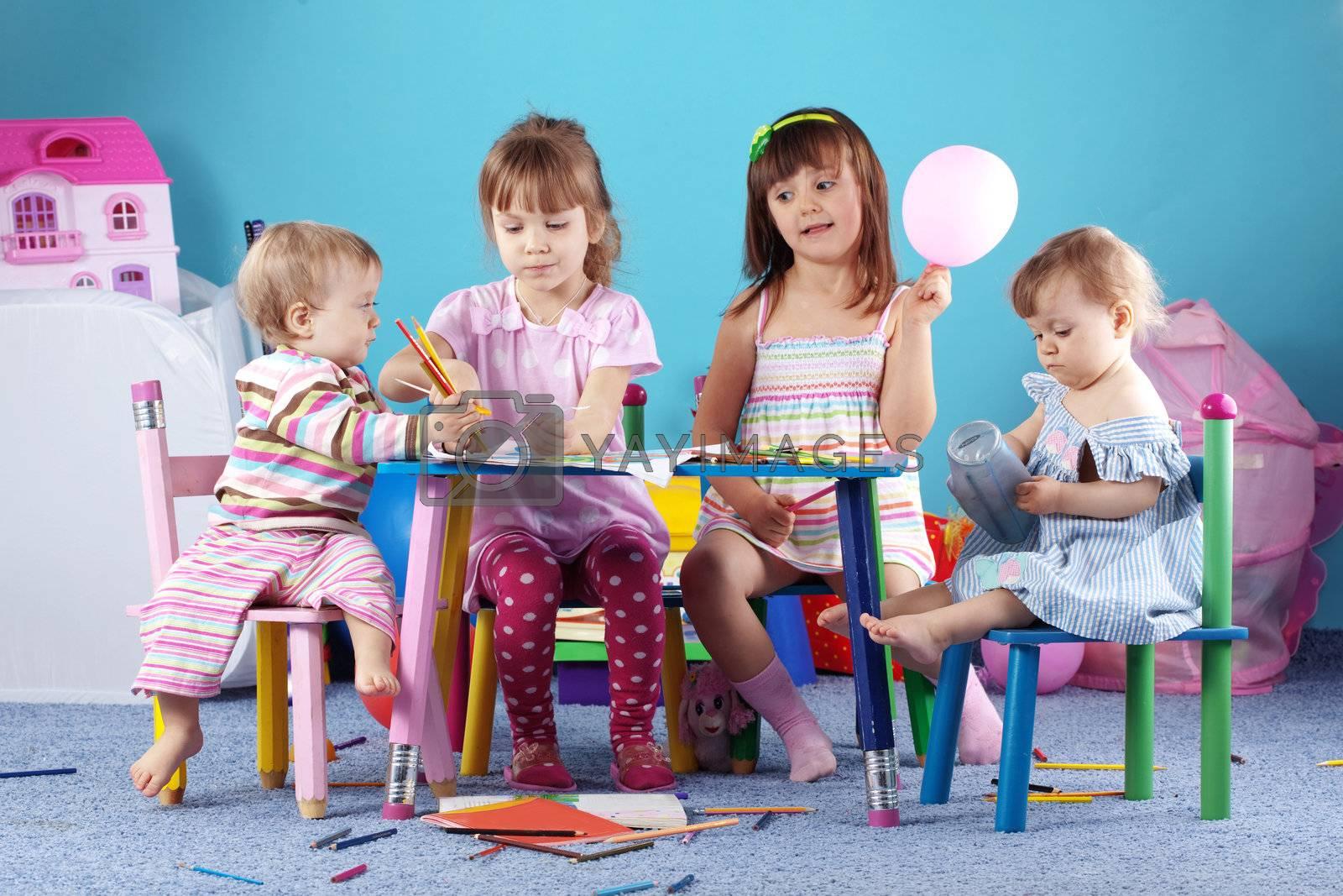 Playing kids by alenkasm