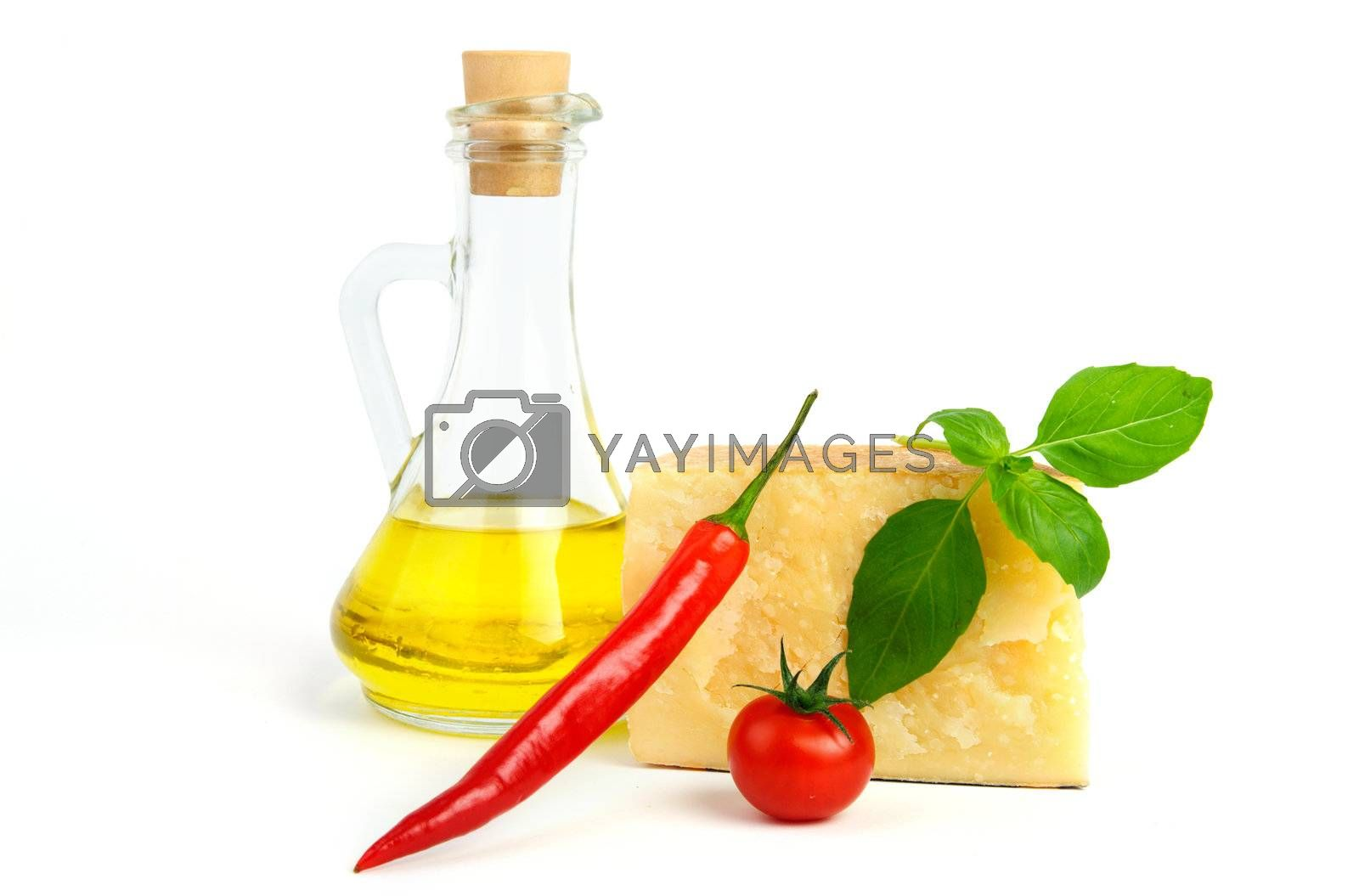 An image of bright food on white background