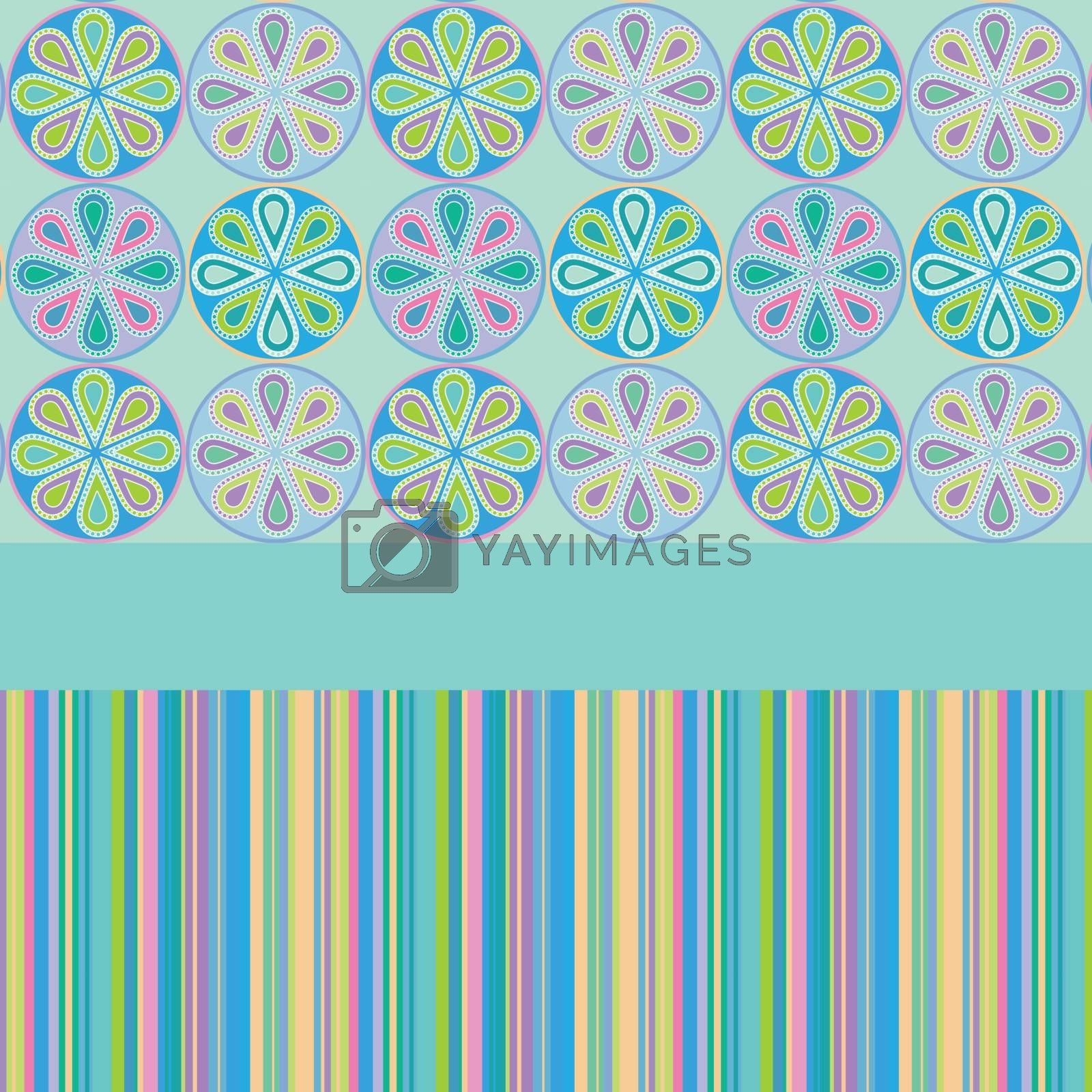 Paisley horizontal seamless. Flower funny vector illustration.