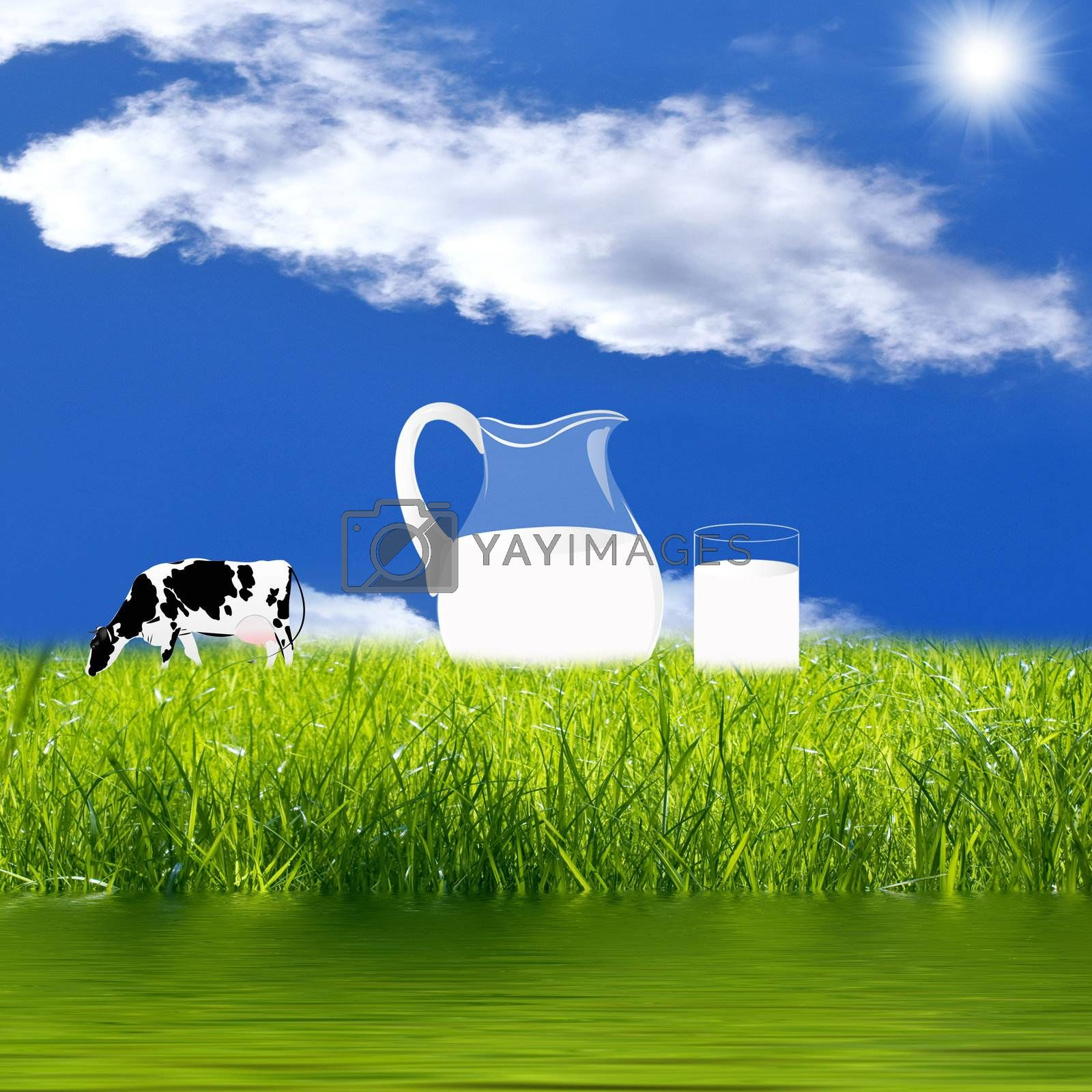 A healthy dairy food . The concept