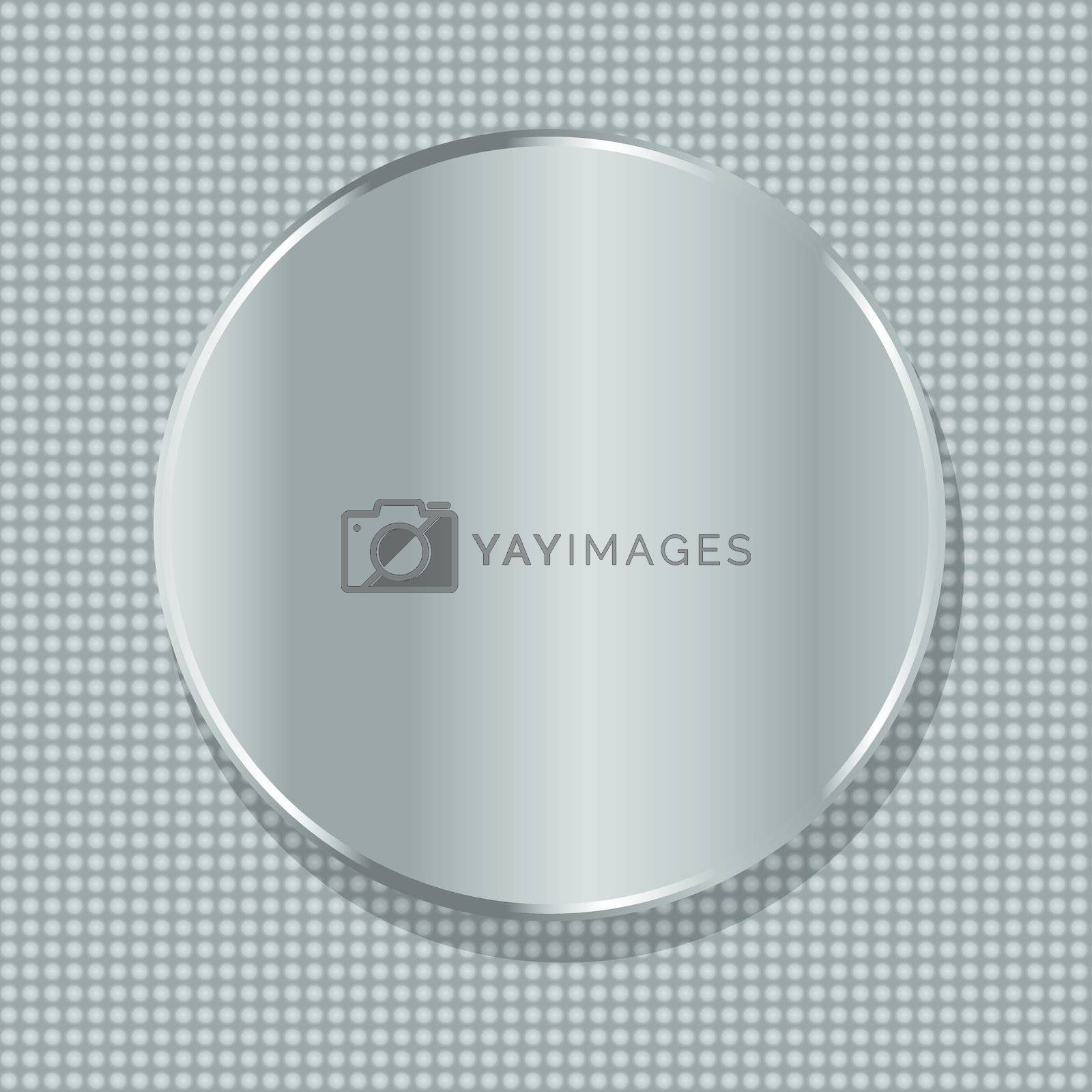 vector blank circle metal plate with space for text