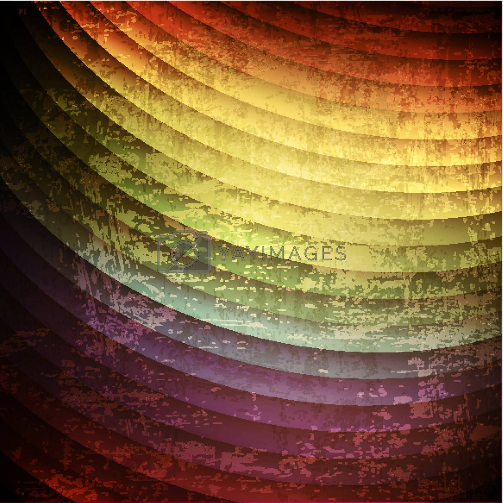 Vintage grunge rainbow multicolored background