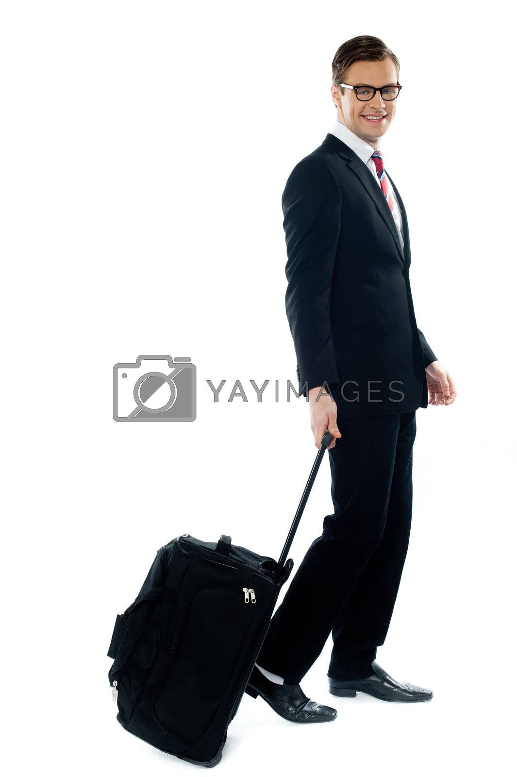 Corporate person leaving for business meeting by stockyimages