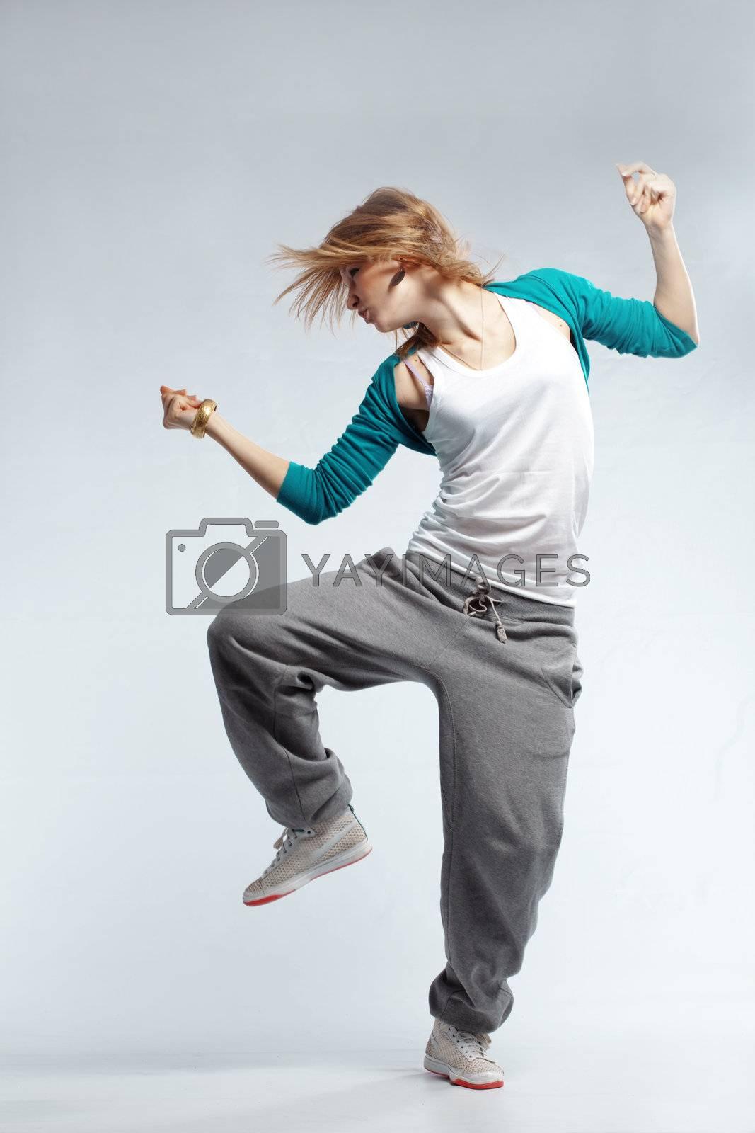 Hip-hop dancer by alenkasm