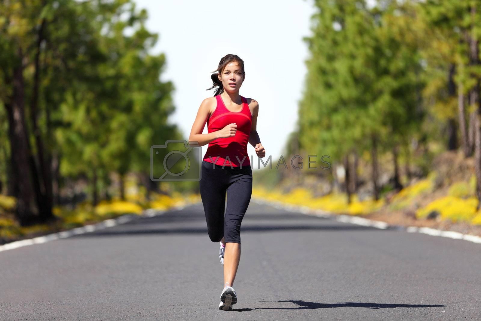 Sport fitness running woman by Maridav