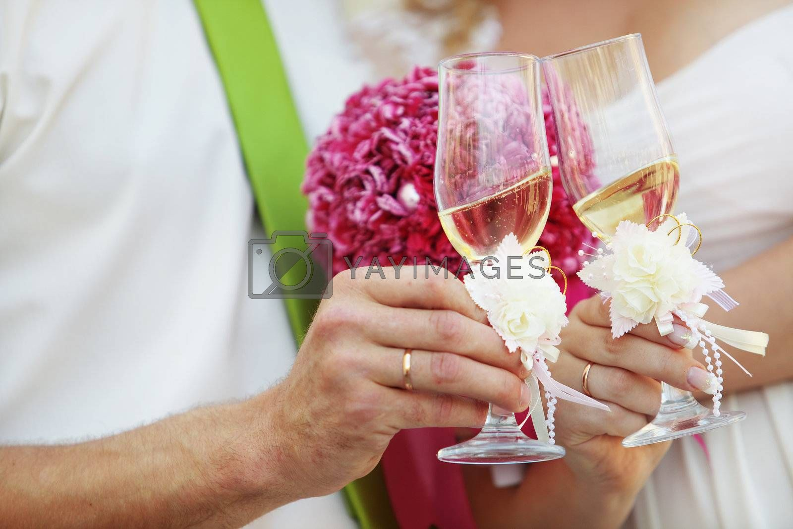 Beautiful detail of wedding celebration