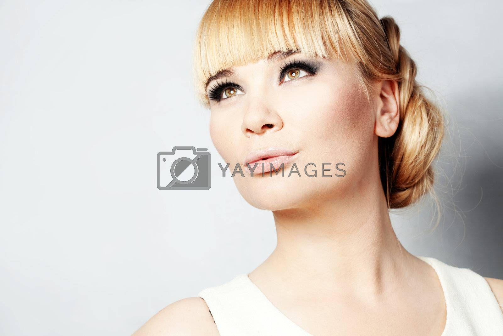 Portrait of young beautiful woman studio shot