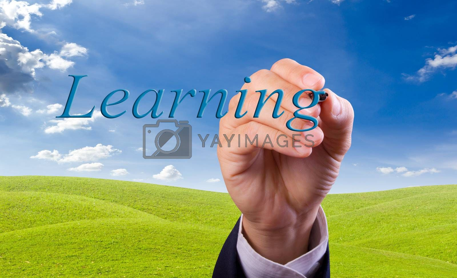 hand writing learning word