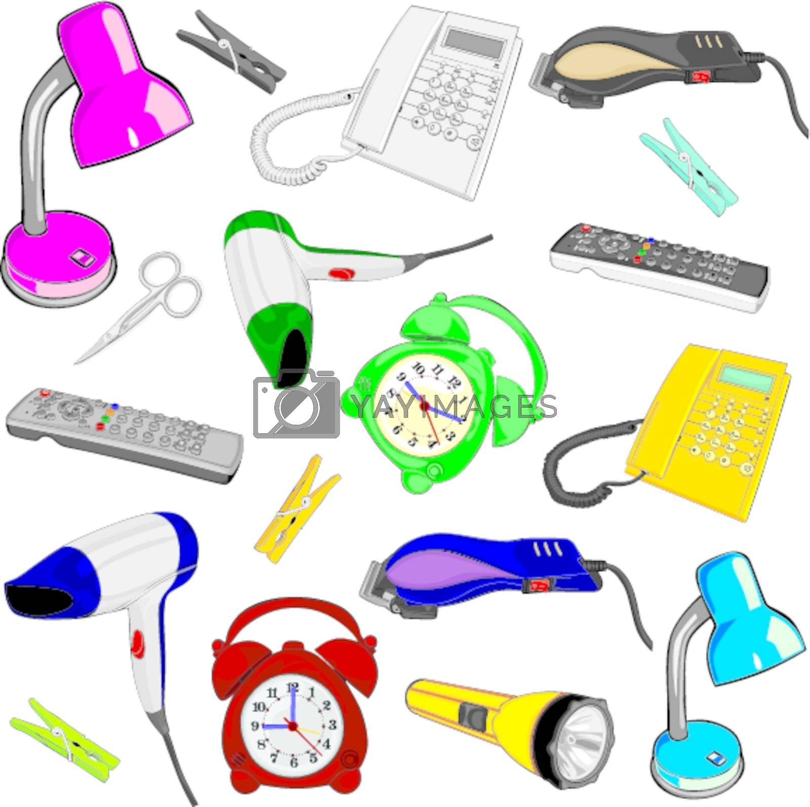 fully editable vector illustration everyday items