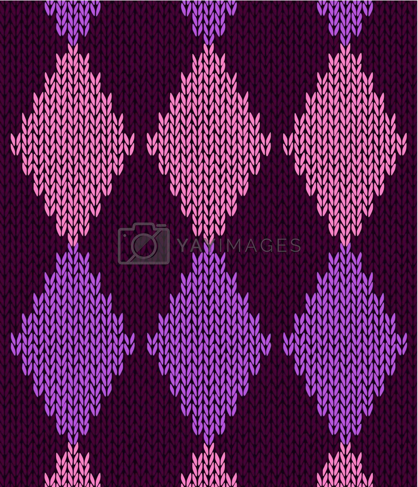 Style seamless pink color knitted pattern