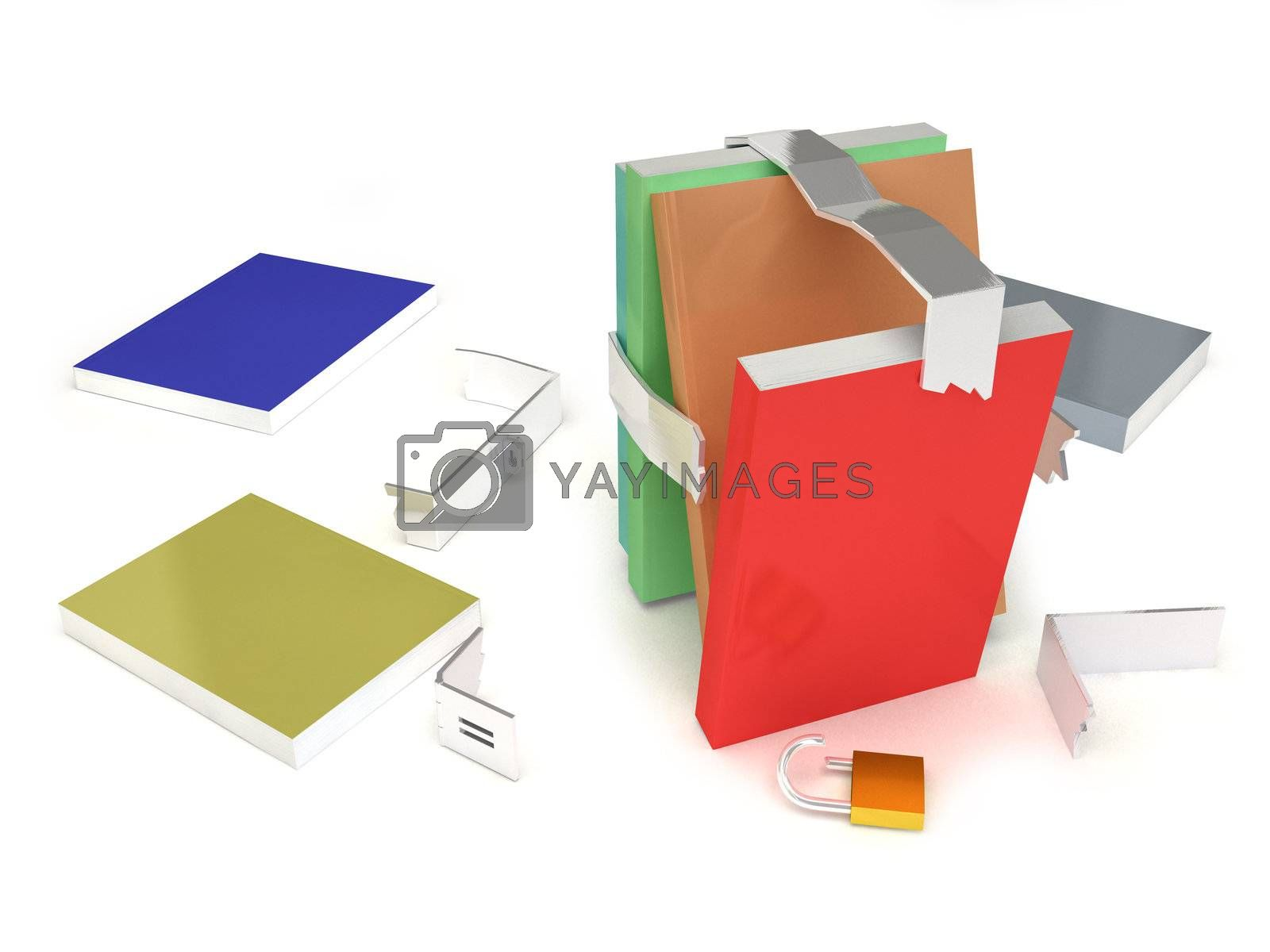Books line released with a white background