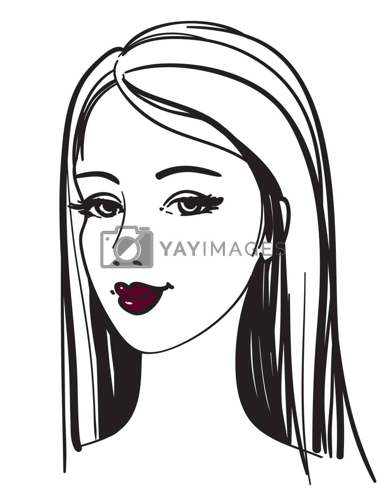 Vector beautiful girl by ESSL