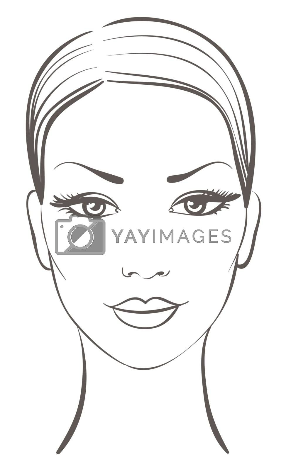 beautiful woman face by ESSL