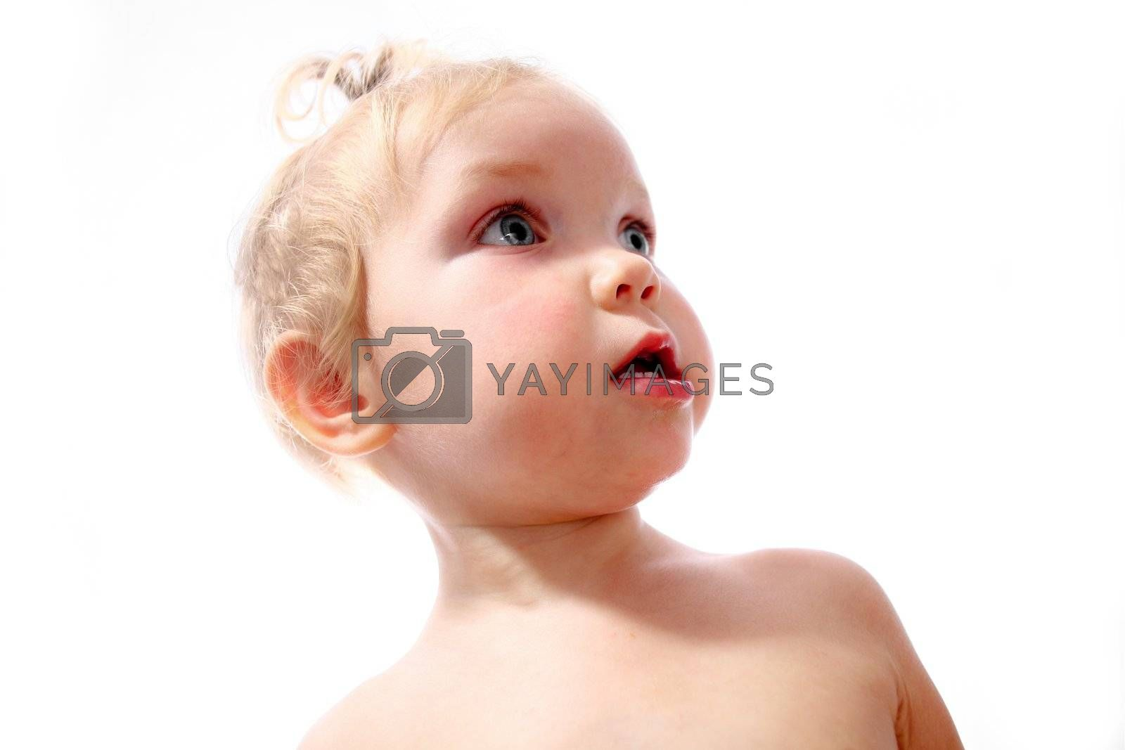 An image of baby girl. Portrait close-up