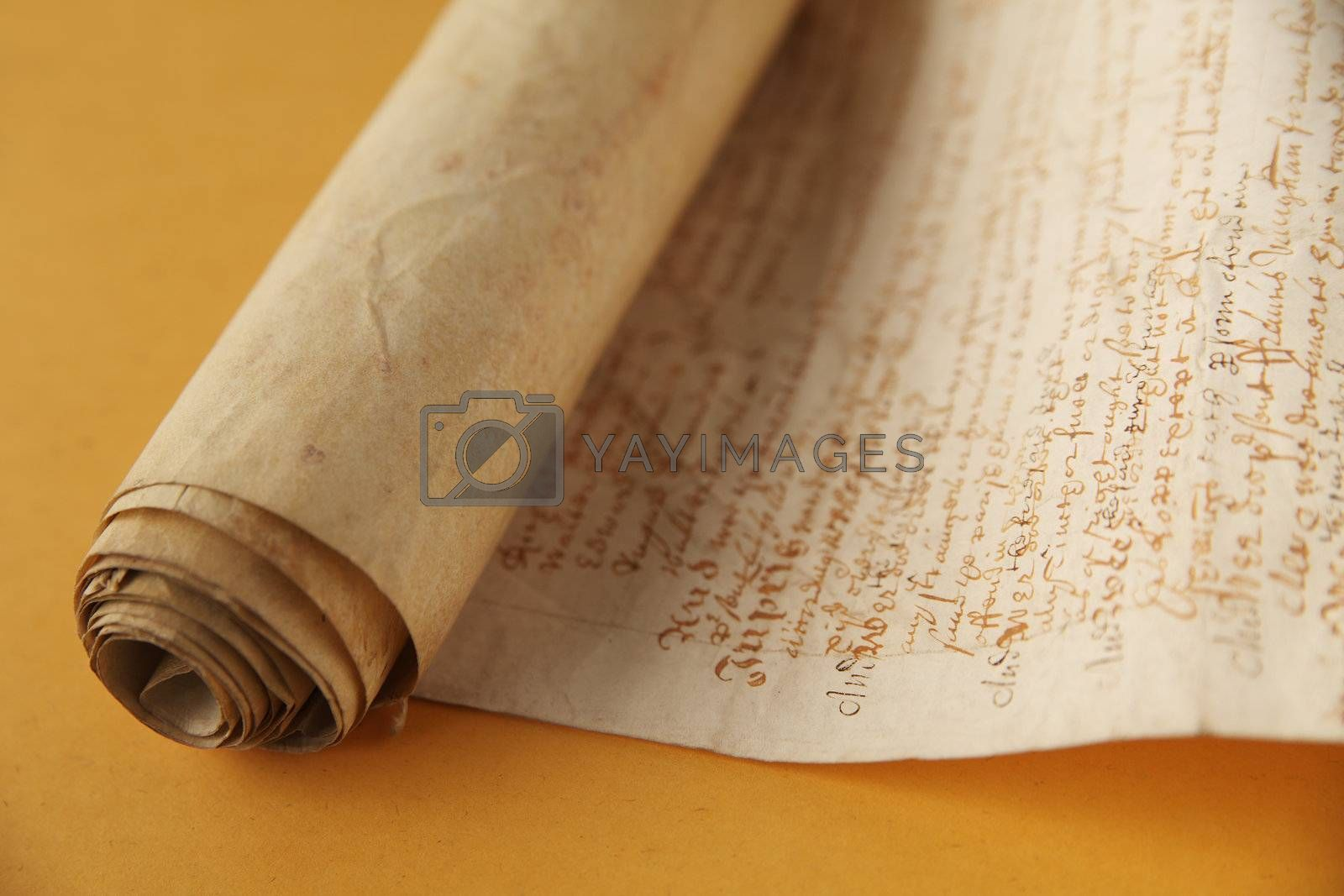 old document with old-fashioned script writing