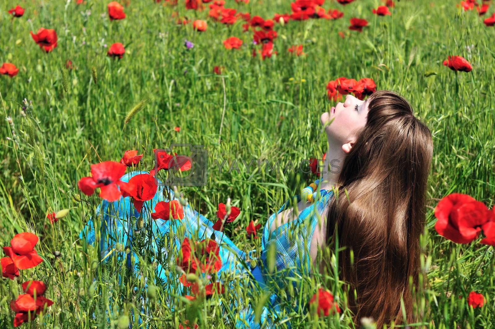 romance in field by Reana