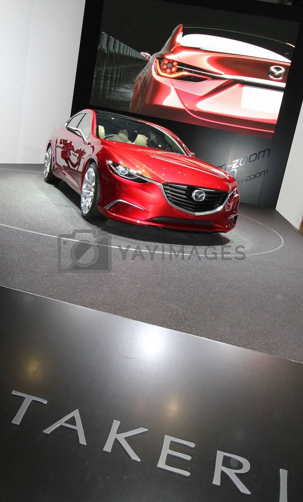 GENEVA - MARCH 16 : The Mazda Takeri concept on display at the 82nd International Motor Show Palexpo -Geneva on March 16; 2012 in Geneva, Switzerland.