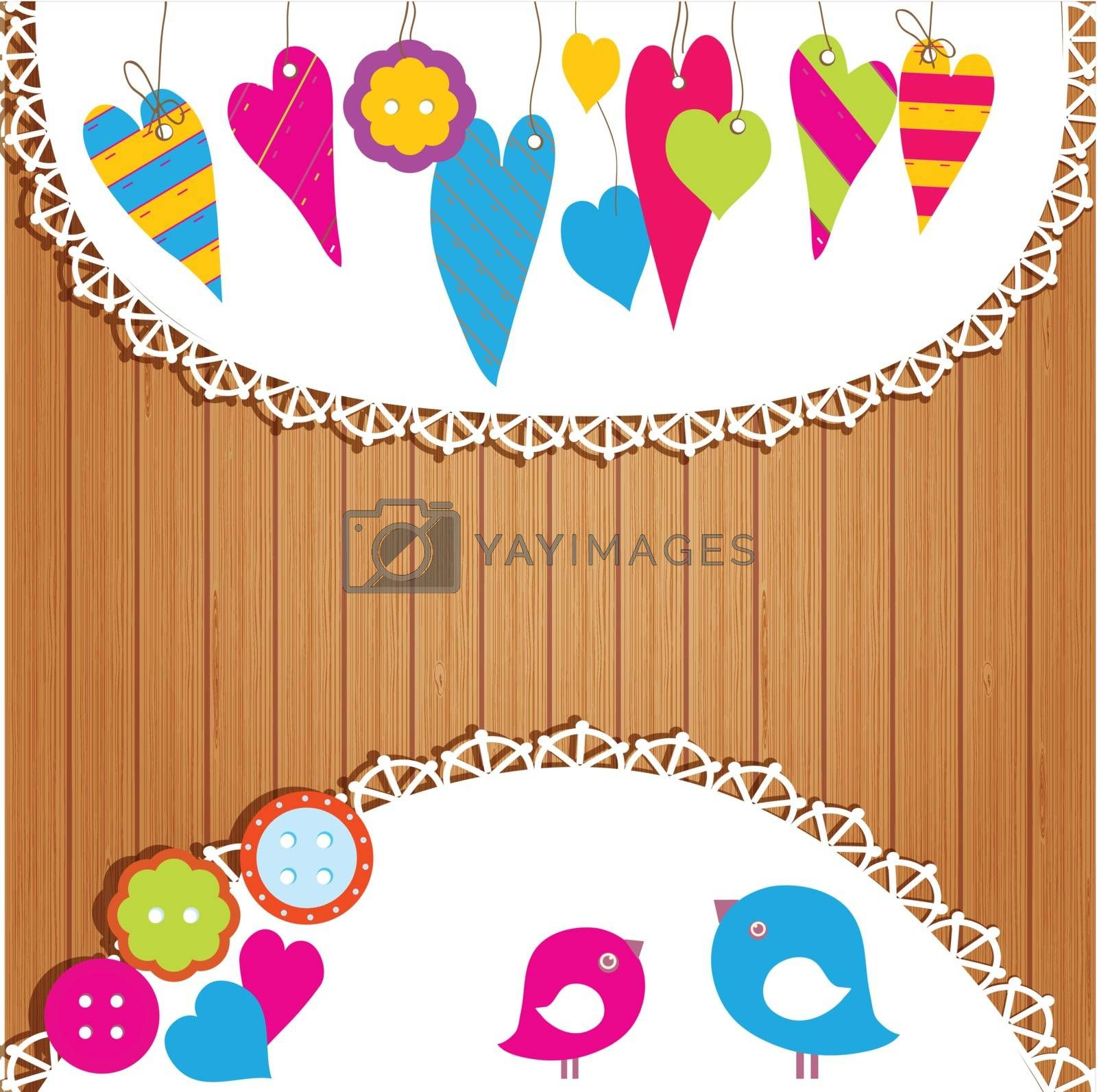 Colorful buntings, garlands and paper chain for indoor or outdoor festivity, birthday or celebration