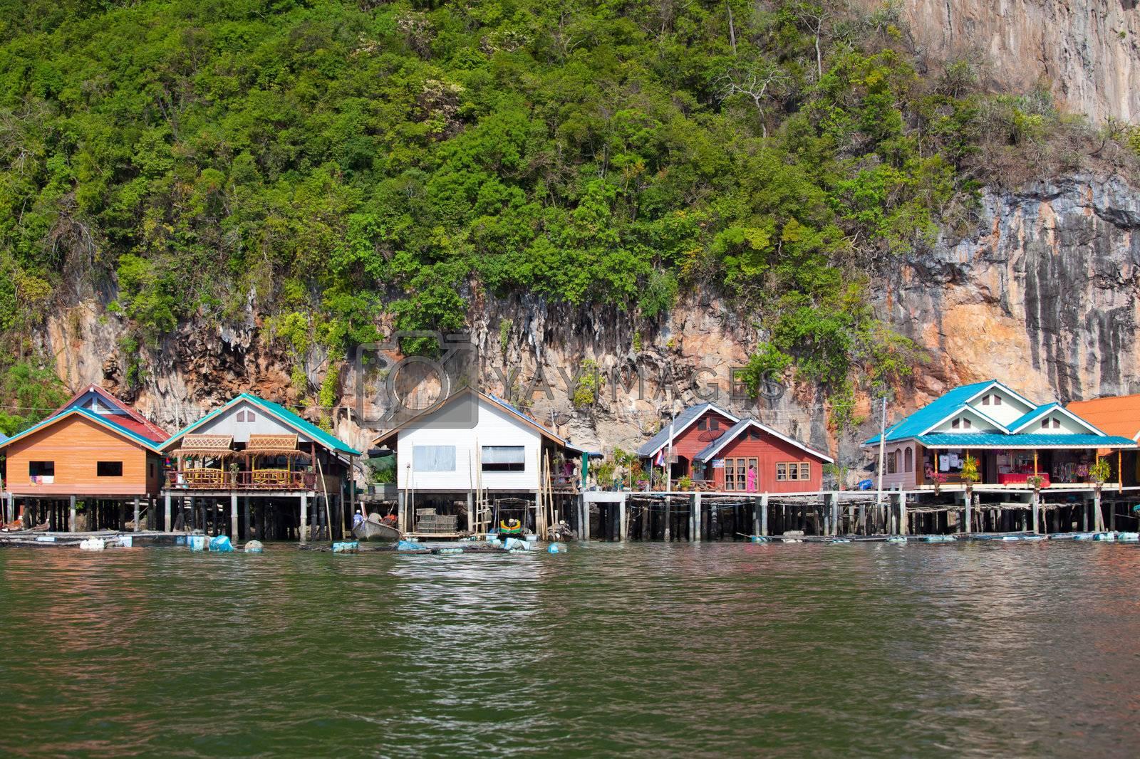 Fishermen's Village by witthaya