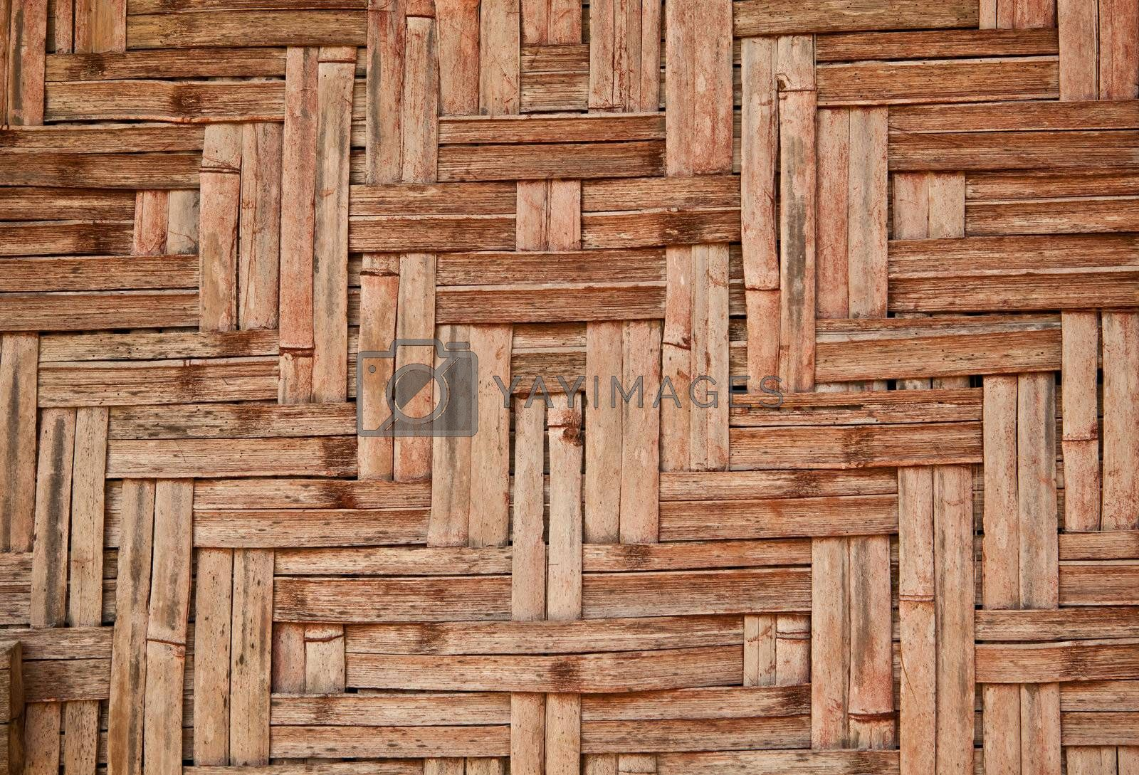 Wicker wood pattern by witthaya