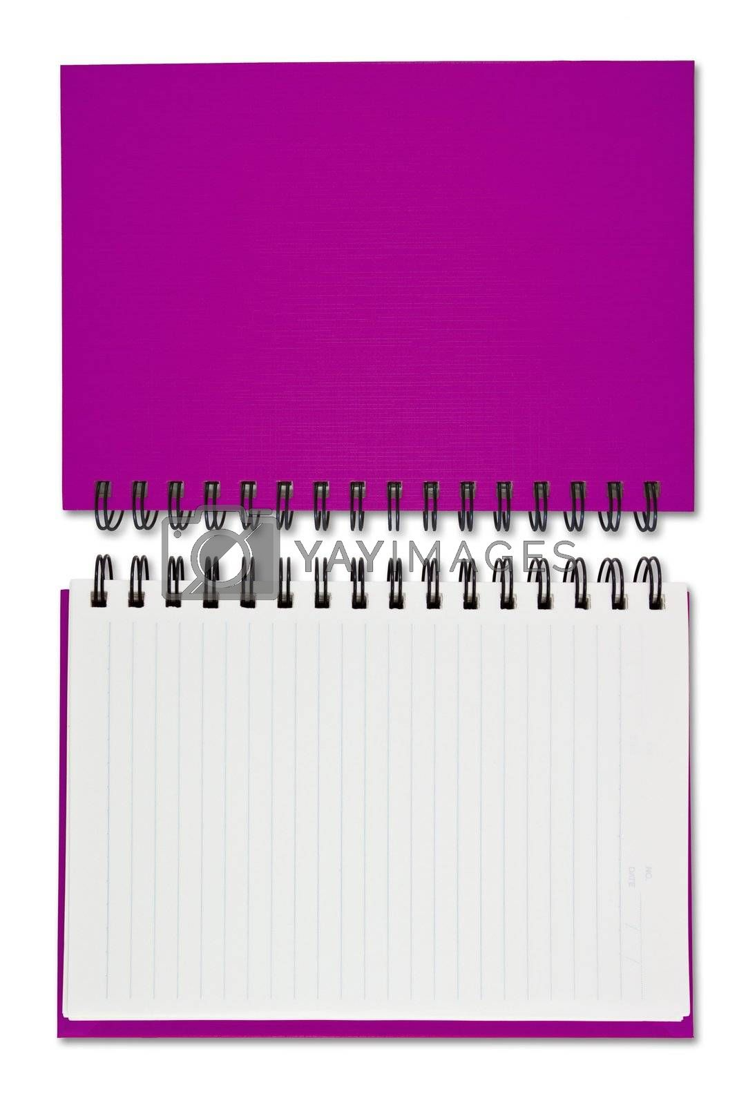 purple Blank Note Book by witthaya