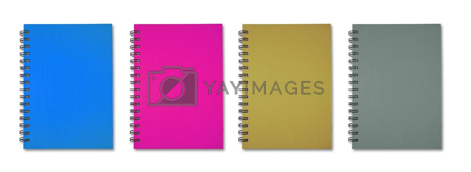 Blue pink brown grey Note Book