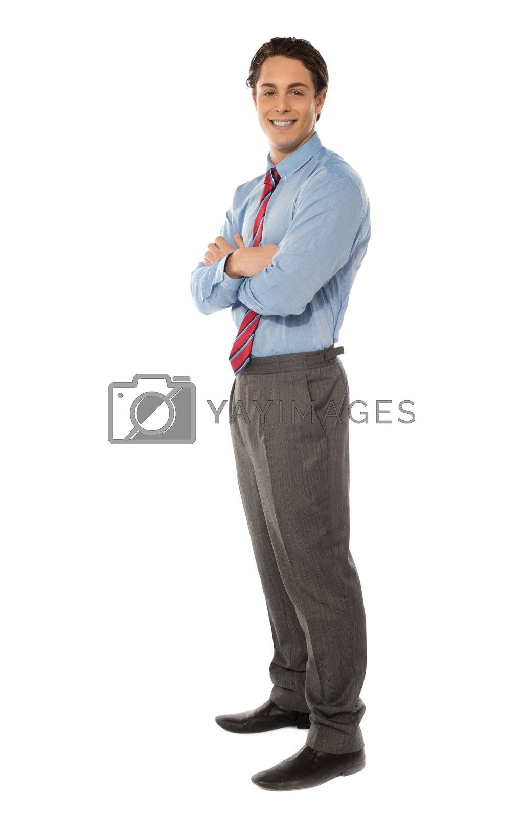 Portrait of a successful mature businessman against white background