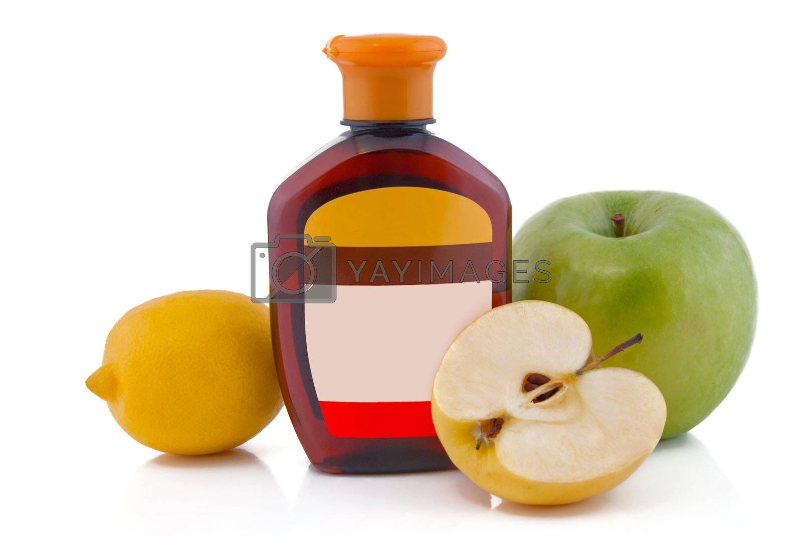 brown container and fruits
