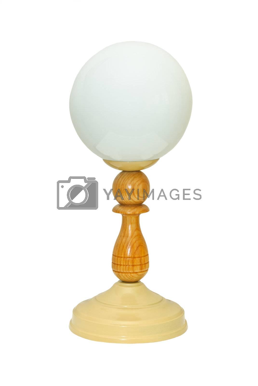 Desk lamp, isolated on white background