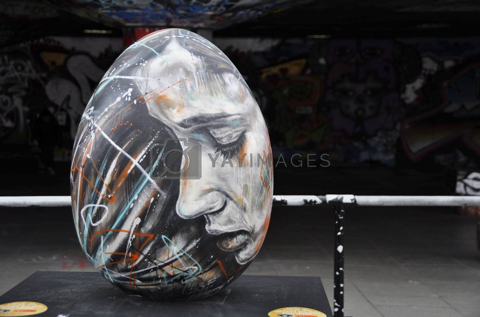 Easter egg by David Walker created for the Fabergé Big Egg Hunt, in London, on March 18, 2012