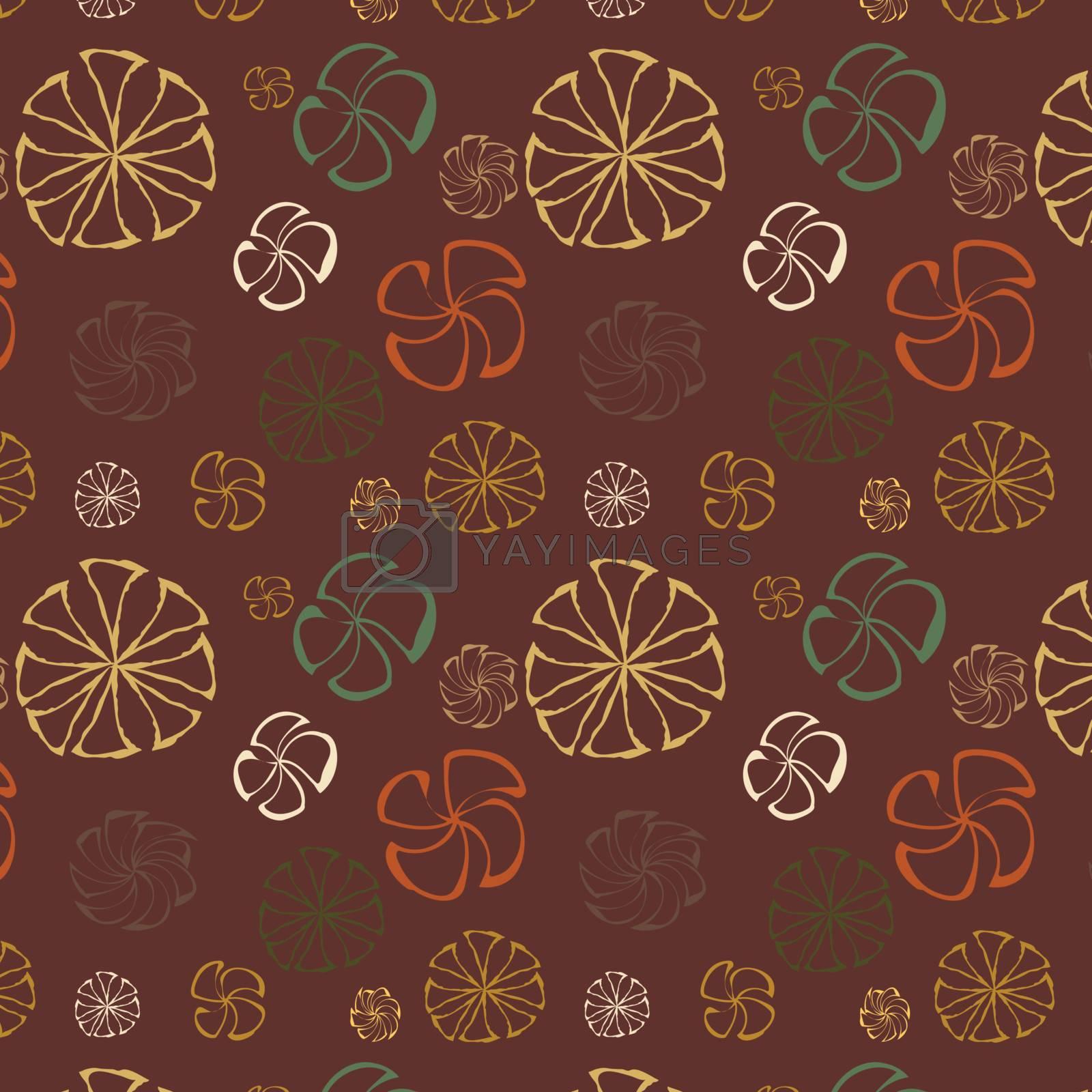 Floral seamless background, vector, illustration