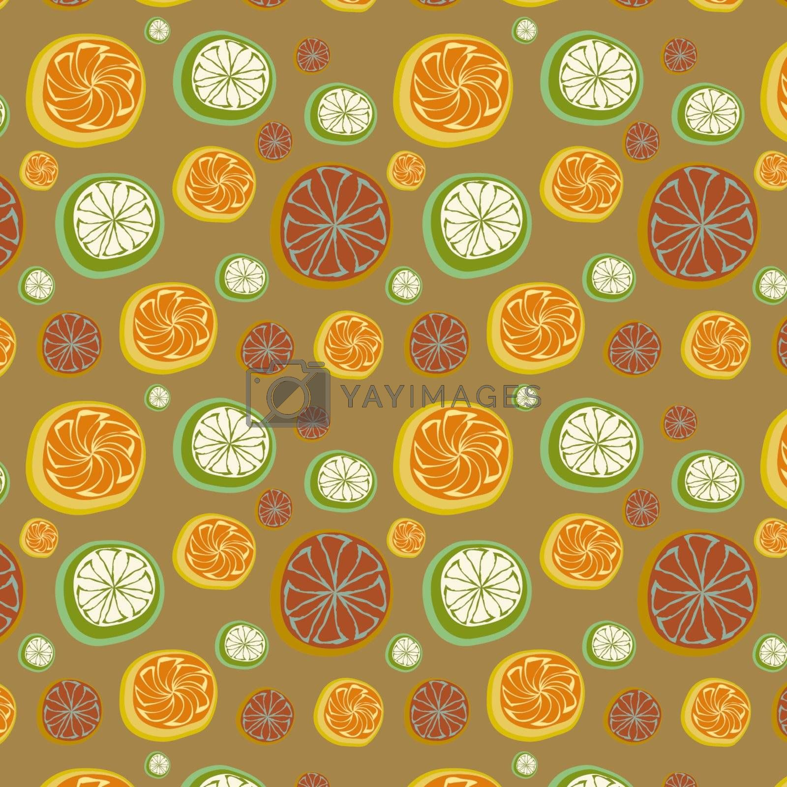 Seamless background with segments, vector, illustration