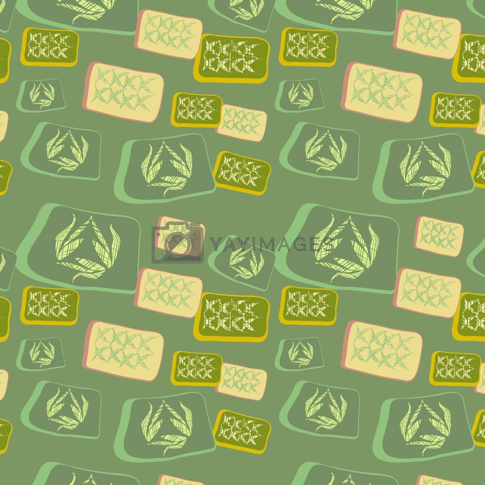 Original seamless background with squares, vector, illustration