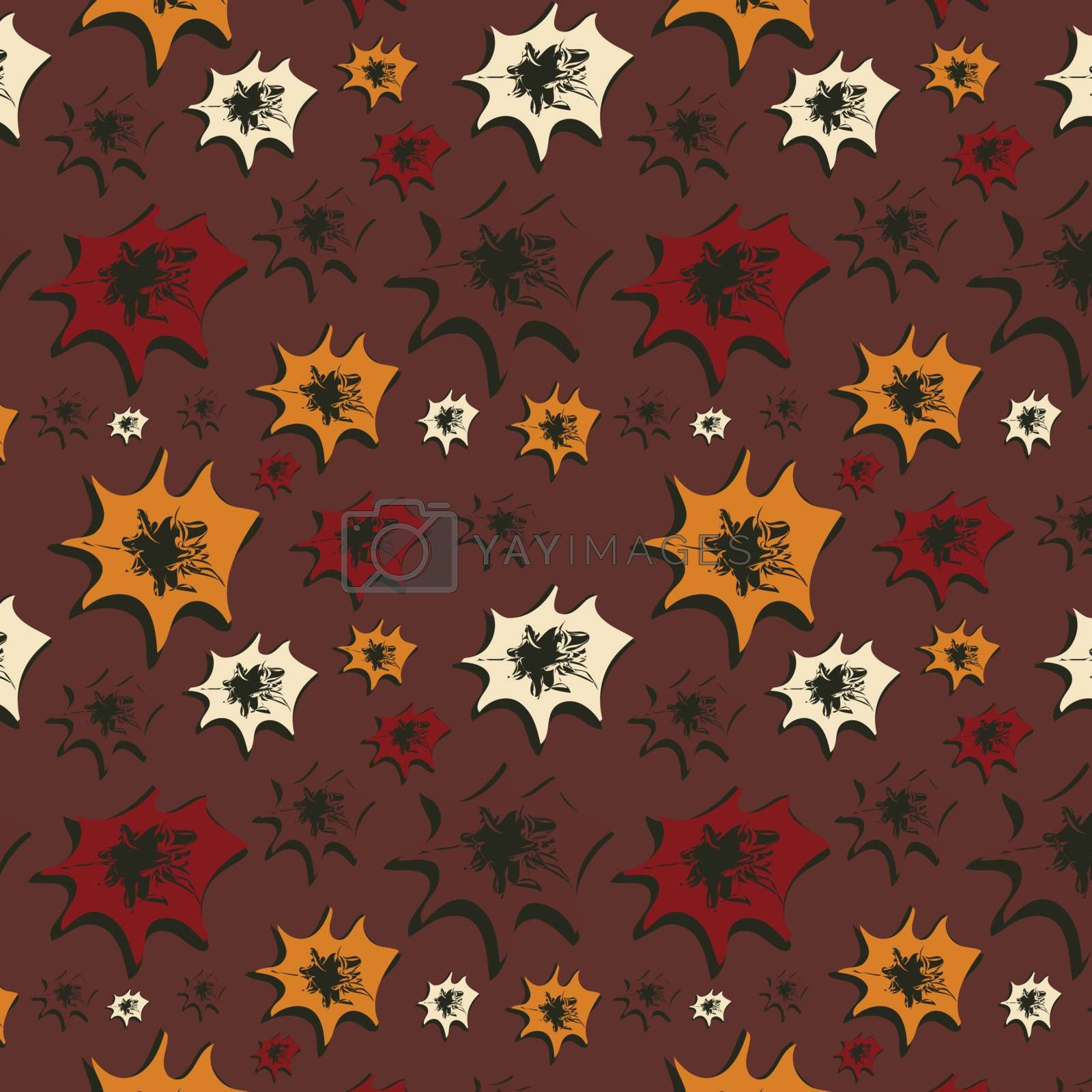 Seamless background with varicoloured figures, vector, illustration