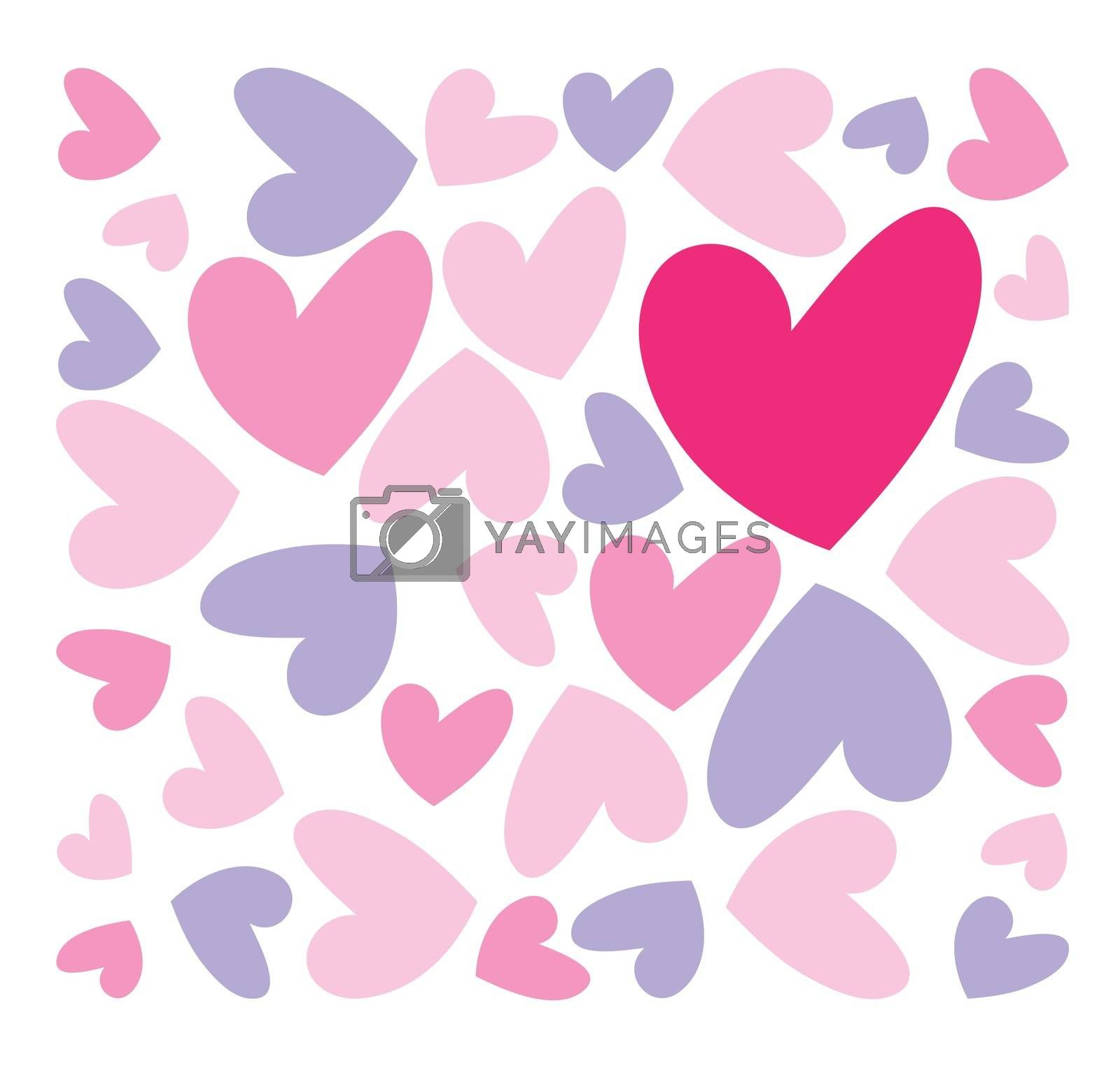 abstract pink hearts background