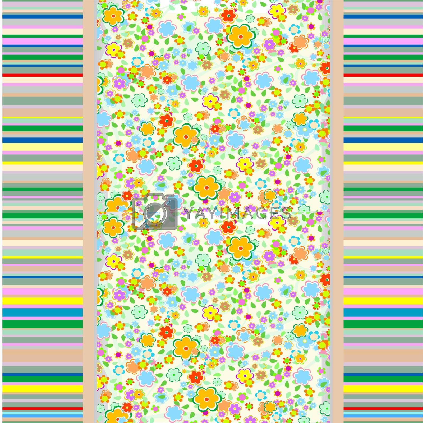 Abstract flowers background. vector seamless cute background
