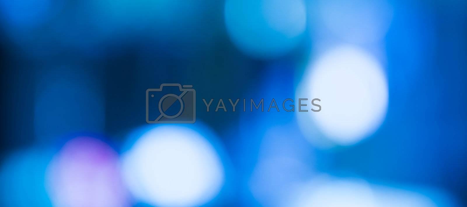 Background of Blue Blurred Lights