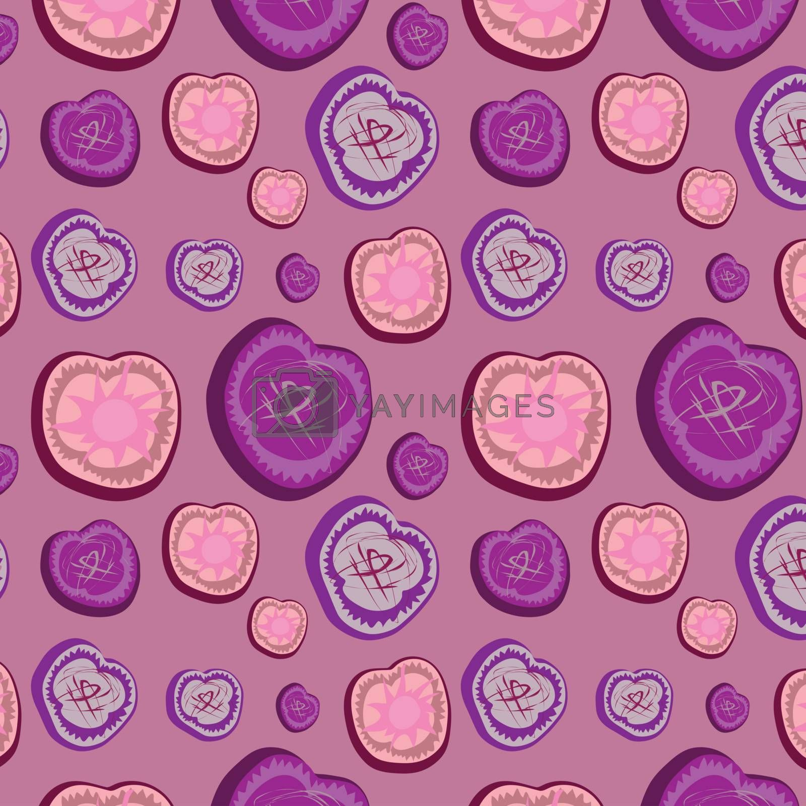 Abstract seamless background in lilac tones, vector, illustration