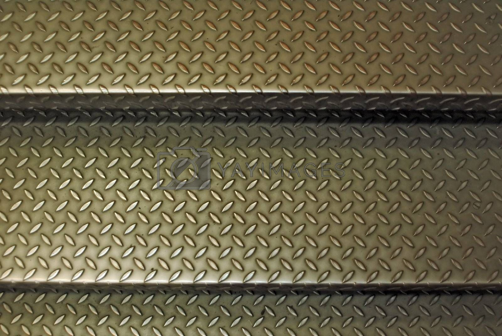 Old metallic stairs close up background texture