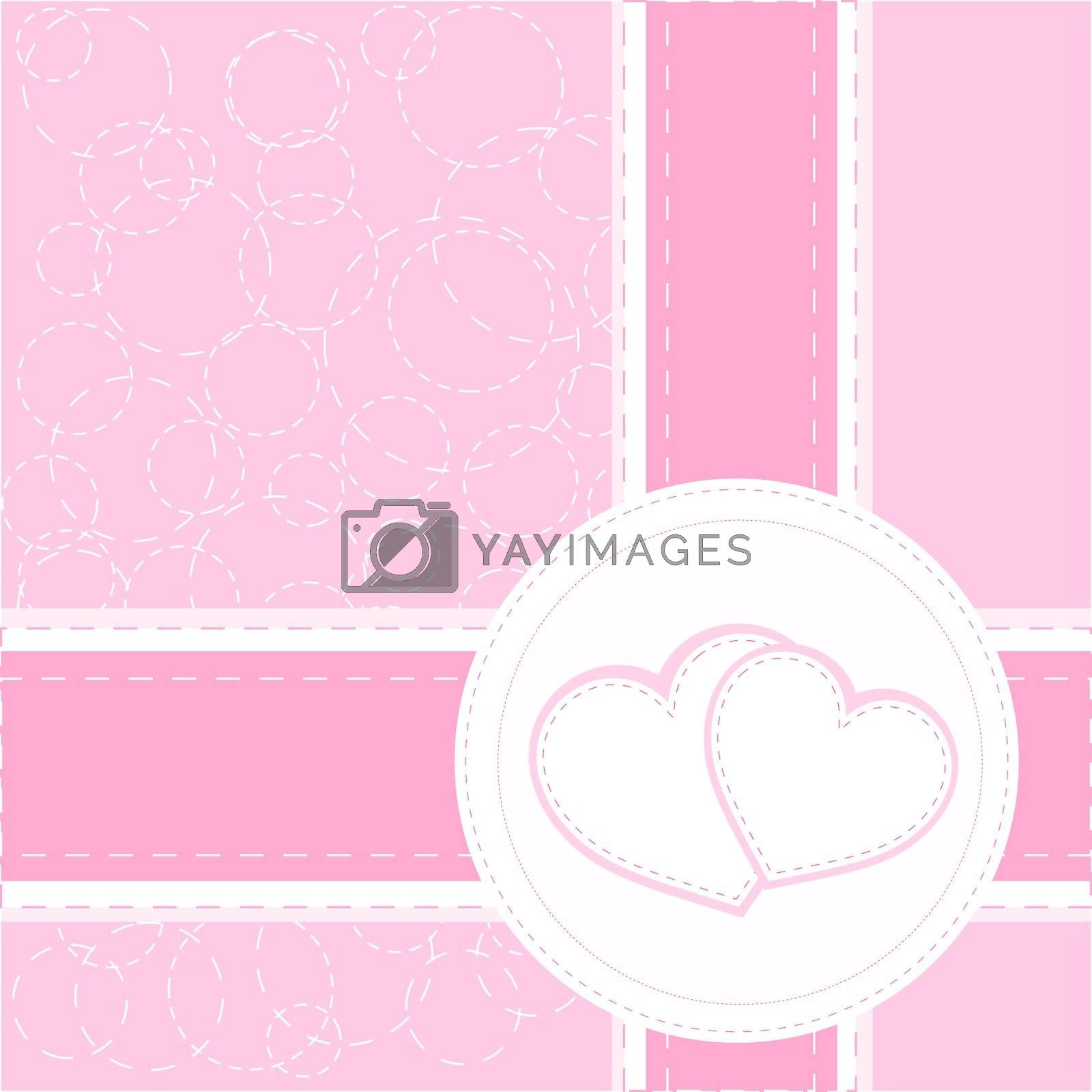 valentine heart red wedding card vector background