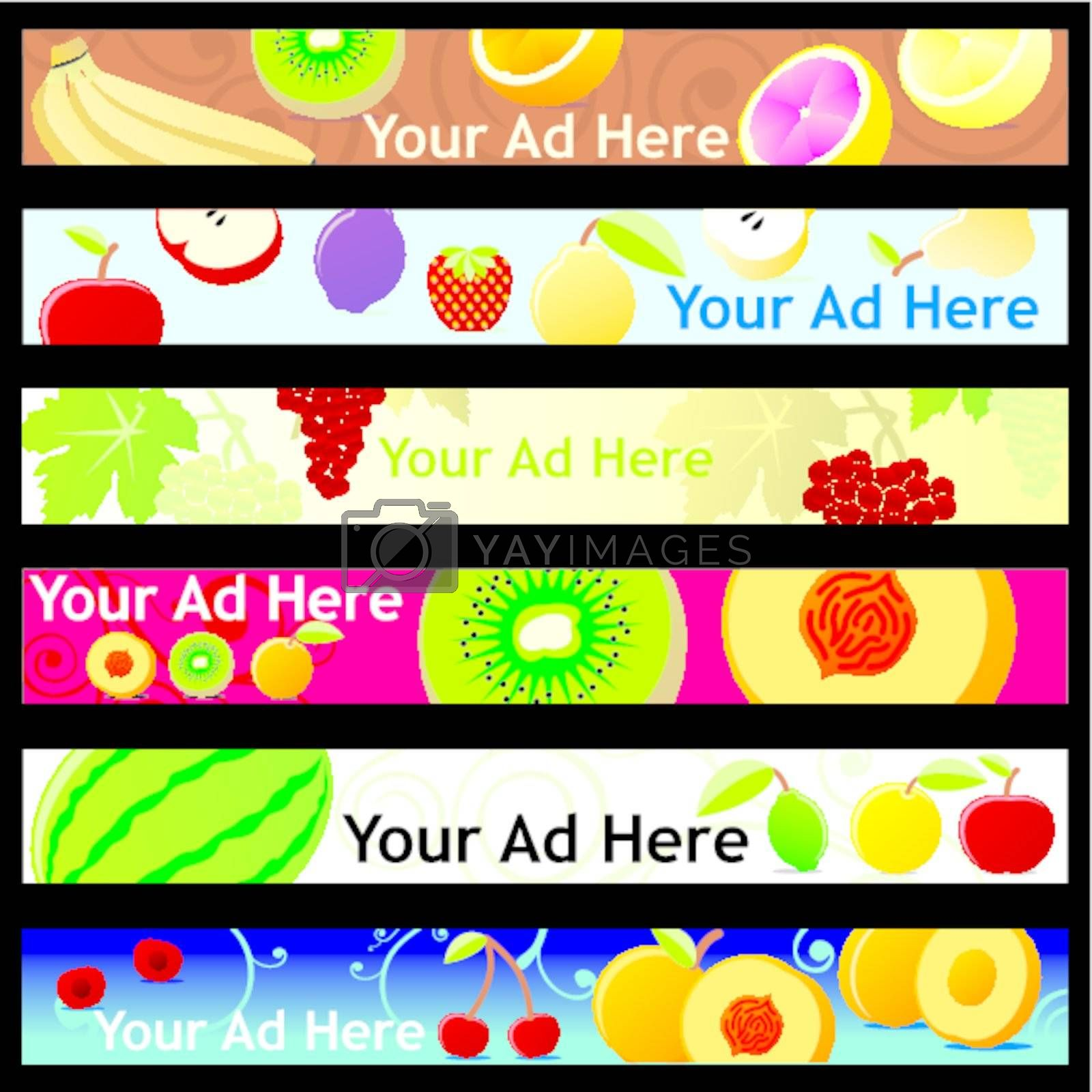 fully editable vector web banner with different layouts ready to use