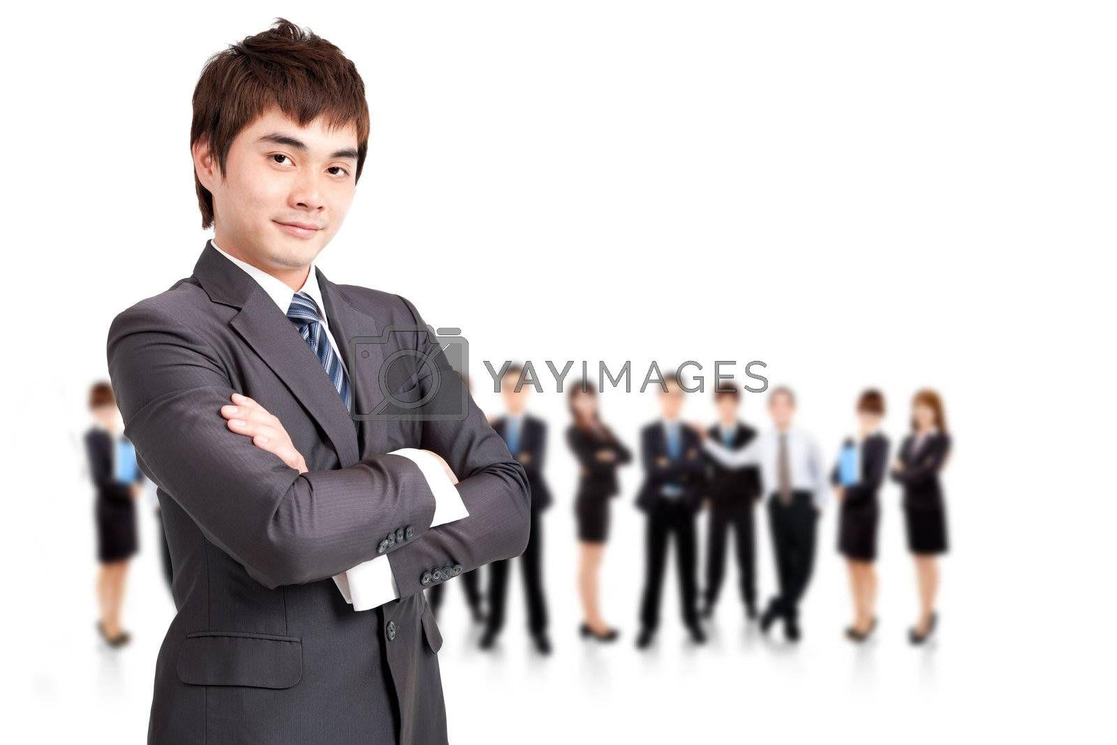 successful  businessman  and business team by tomwang