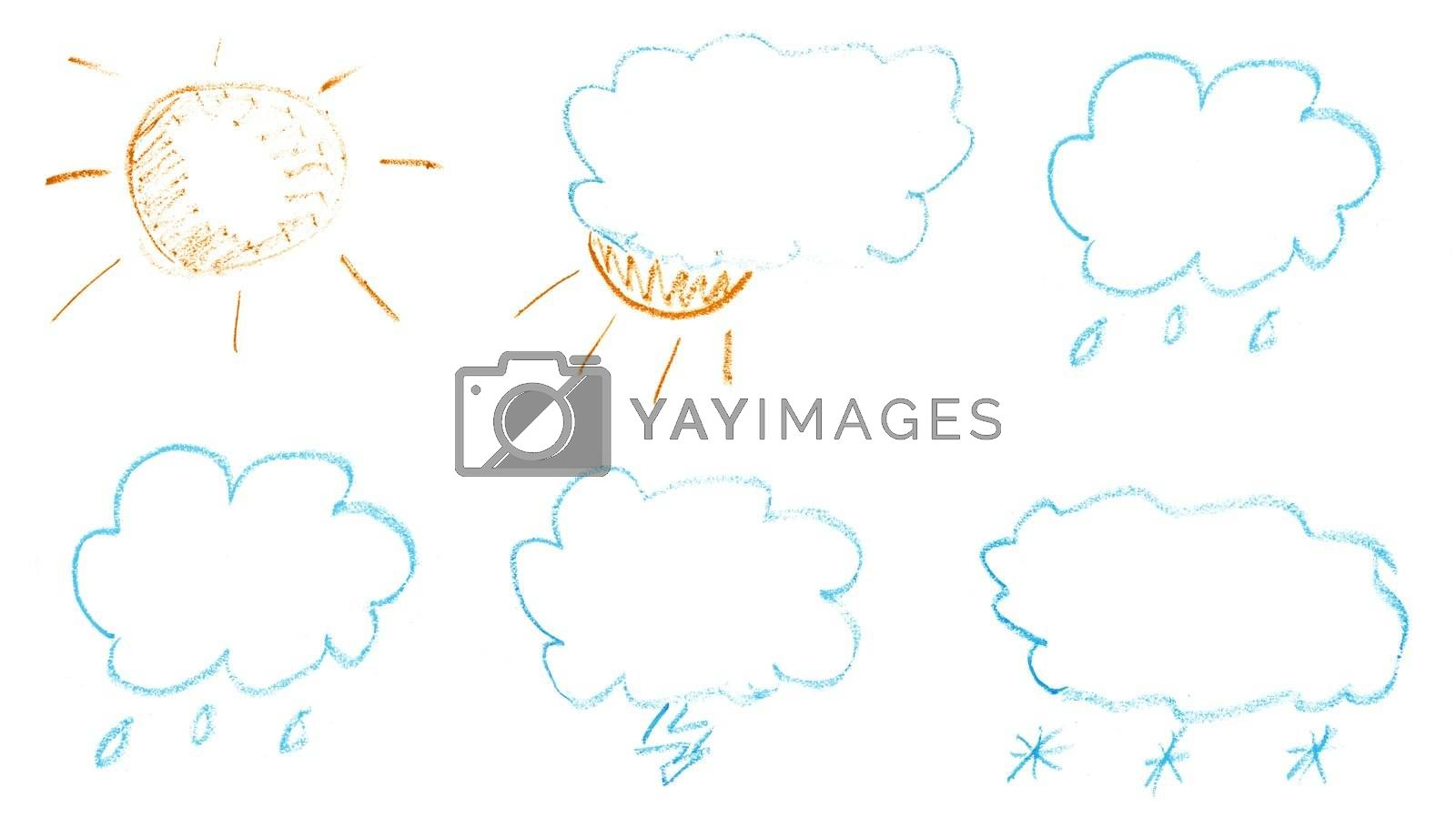 weather paint hand art on white paper