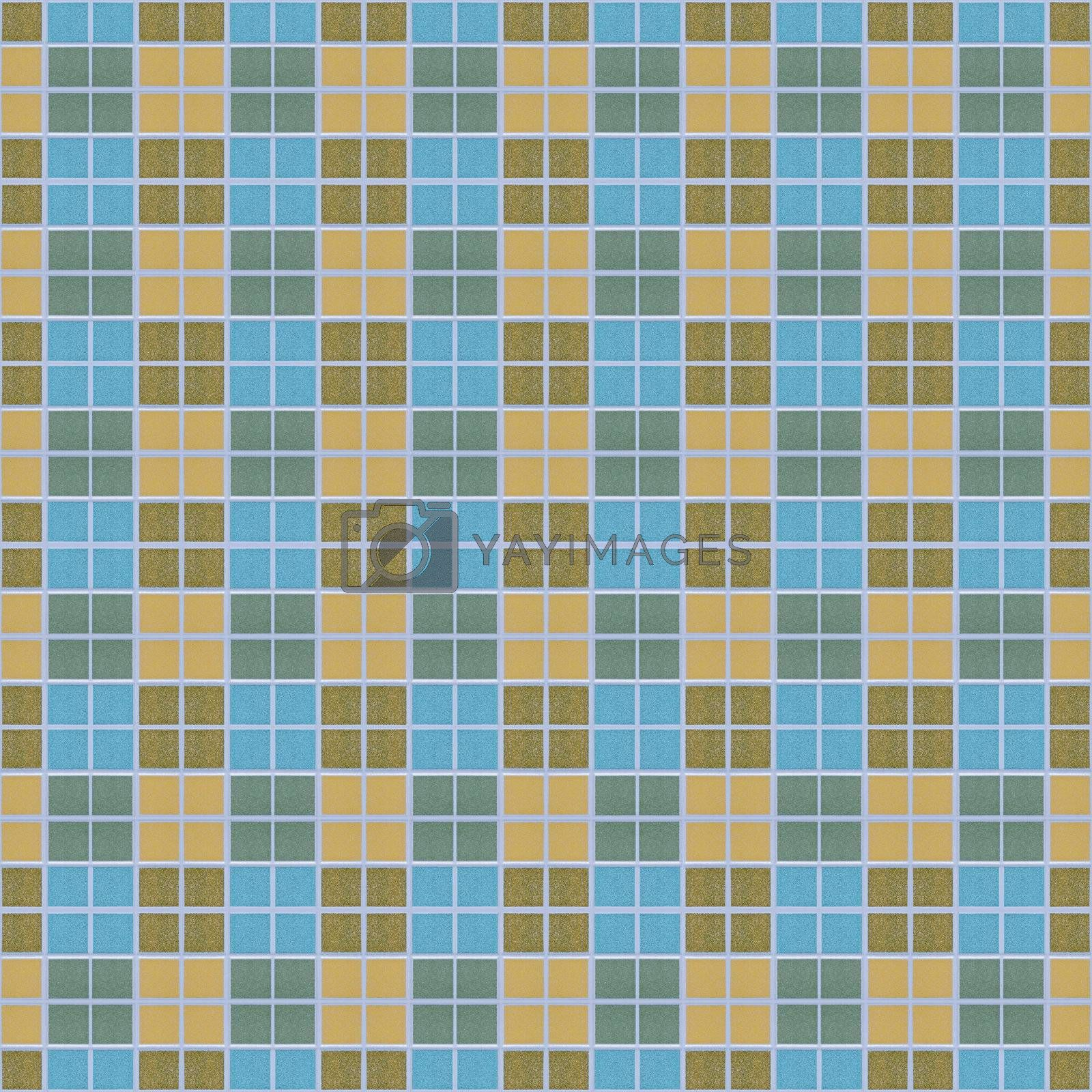 Abstract colorful square block mosaic, seamless background