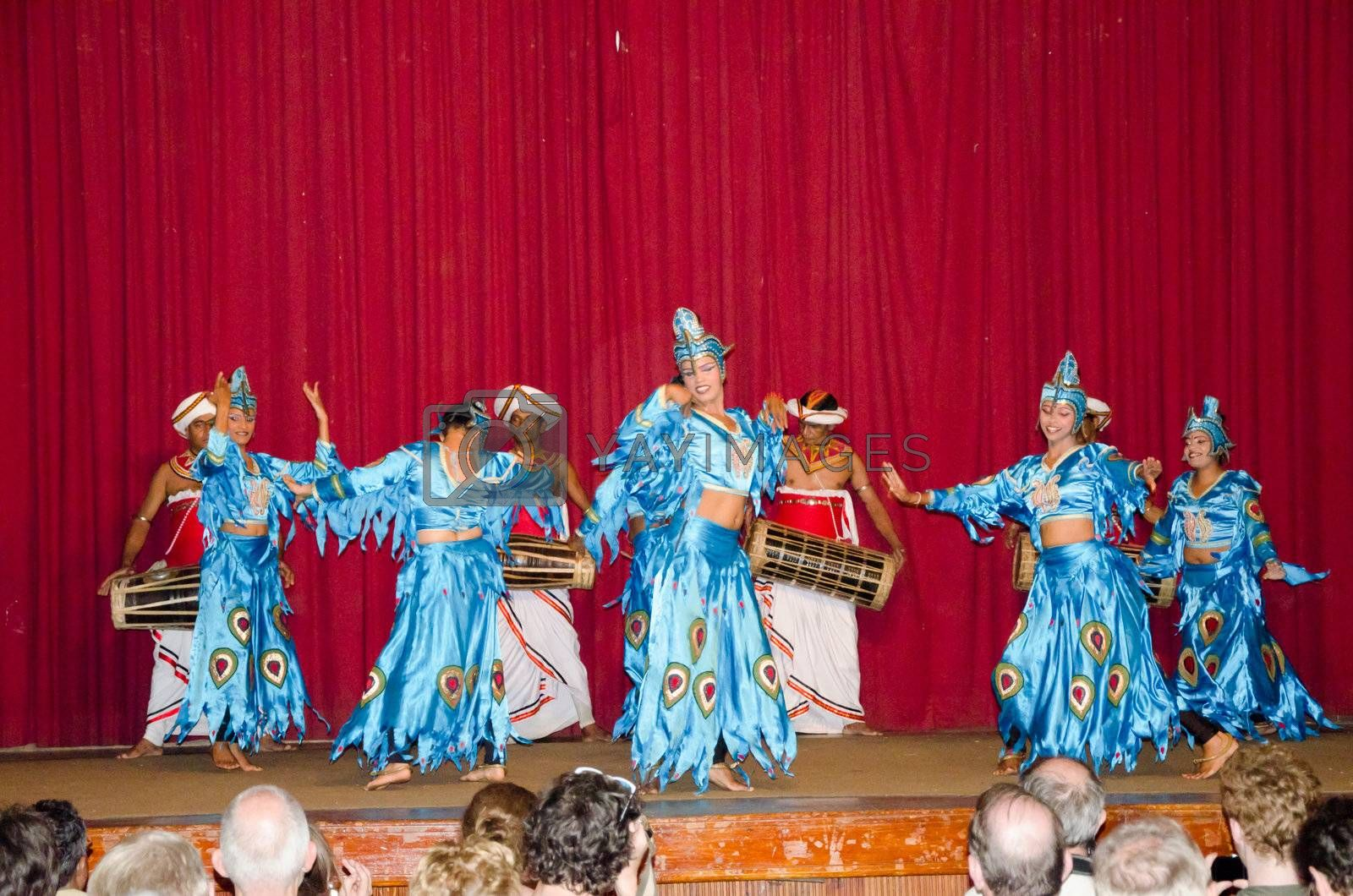 Kandy, Sri Lanka, December 7, 2011. Folk dances in the local theater scene.