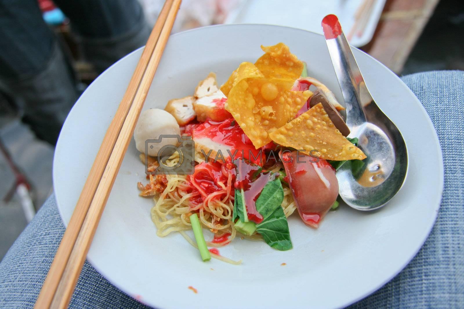 Traditional Thai noodle, yong tau fu, yen ta fo