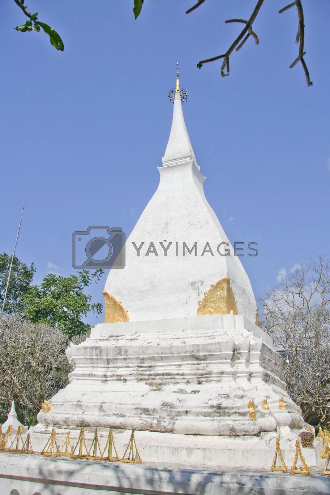 White Pagoda in Thailand