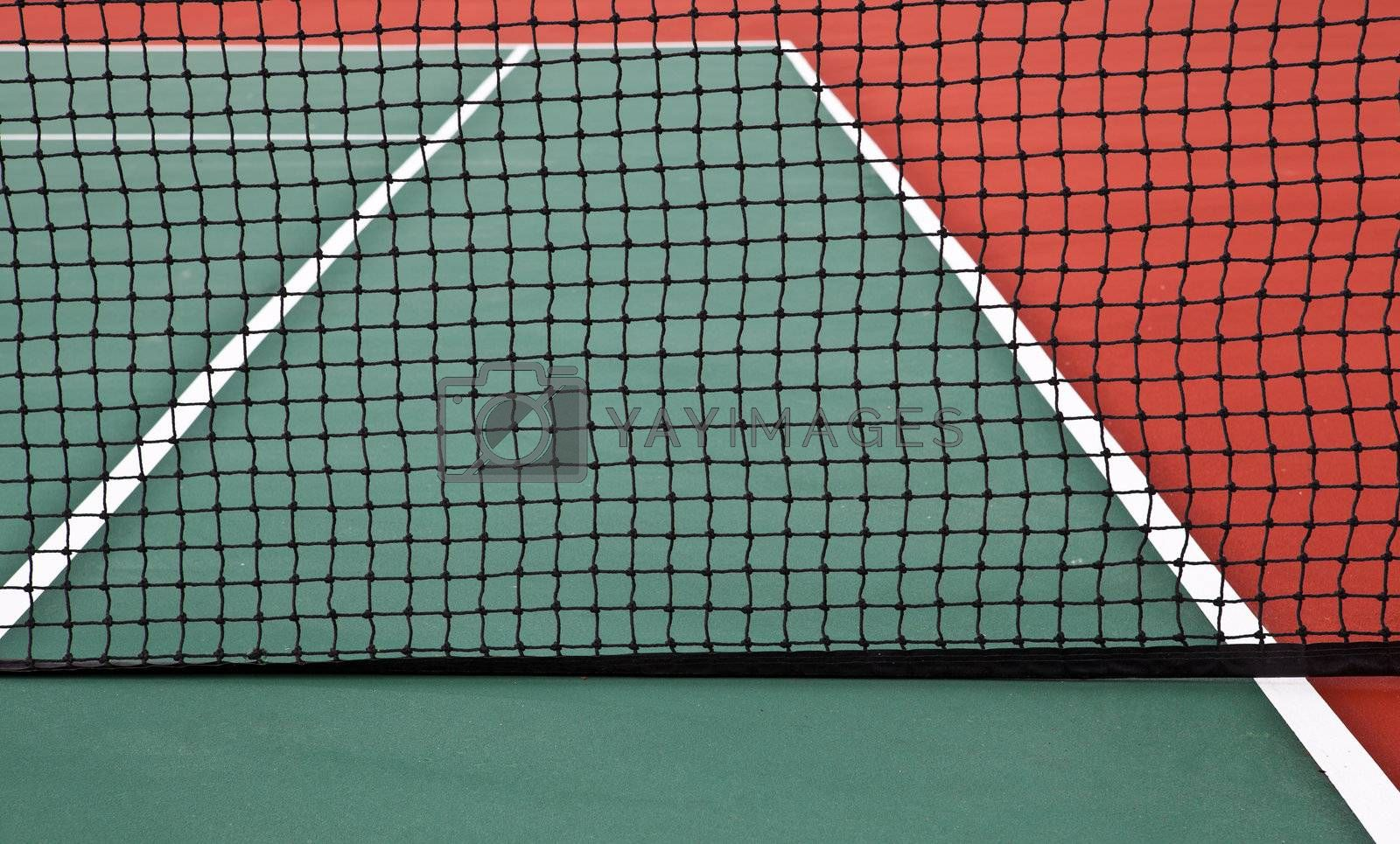 Tennis Court with net