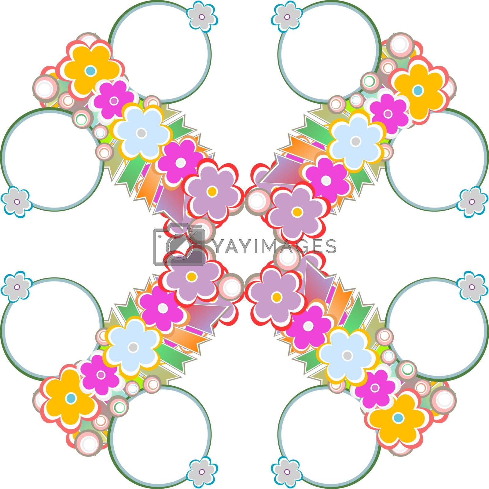 Spring or summer abstract nature background with flowers